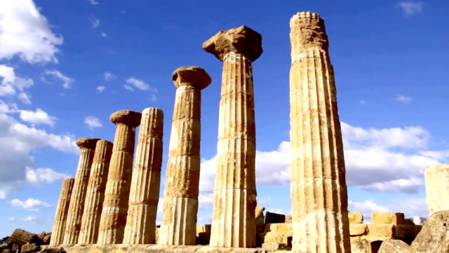 Hercules Temple in Agrigento, Italy.