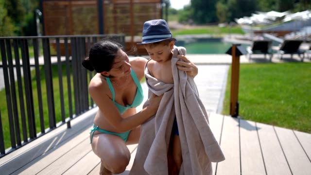 here! a towel for you - towel stock videos & royalty-free footage