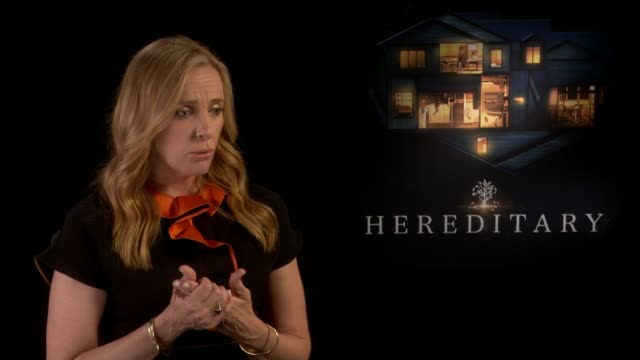 'hereditary' film opens at london sundance film festival: toni collette interview; england: london: ext **music heard overlaid sot** toni collette... - toni collette stock videos & royalty-free footage