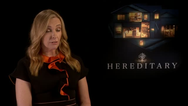'hereditary' film opens at london sundance film festival: toni collette interview; england: london: ext toni collette interview sot - toni collette stock videos & royalty-free footage