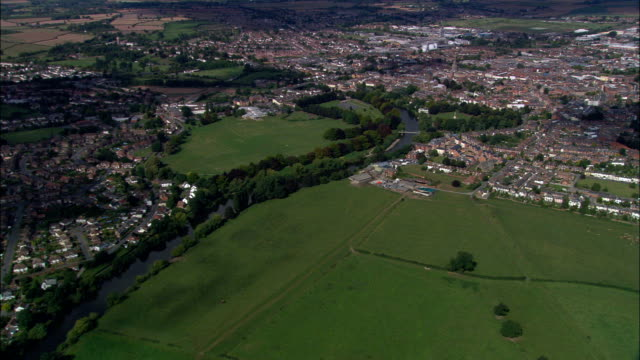 hereford  - aerial view - england, herefordshire, hereford, united kingdom - herefordshire stock videos & royalty-free footage