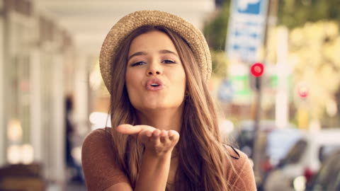 here's a kiss...quick, catch it! - kissing stock videos & royalty-free footage