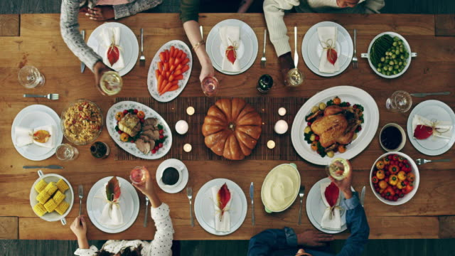 here's to good food and good friends - dinner party stock videos & royalty-free footage