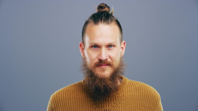 here's wink coming your way - beard stock videos & royalty-free footage