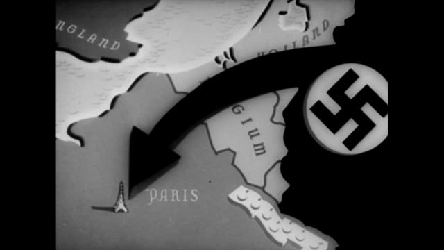 hermann goering and adolf hitler looking at map - mill stock videos & royalty-free footage