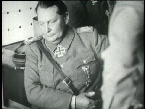 hermann goering surrenders his gun and belt - hermann goering stock videos & royalty-free footage