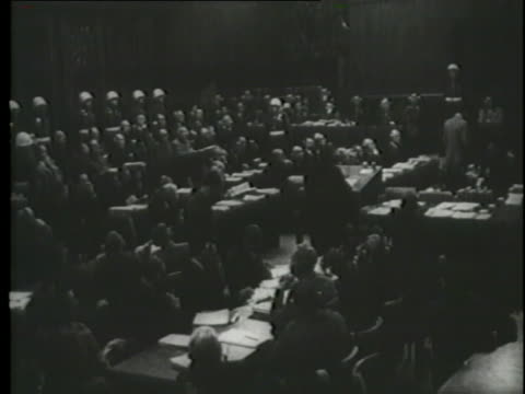 hermann goering testifies about his knowledge of the holocaust at the nuremberg trials. - nuremberg trials stock videos & royalty-free footage