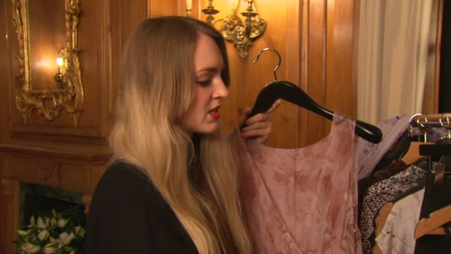 hermione de paula at the dorchester collection fashion prize at london england. - fashion collection stock videos & royalty-free footage