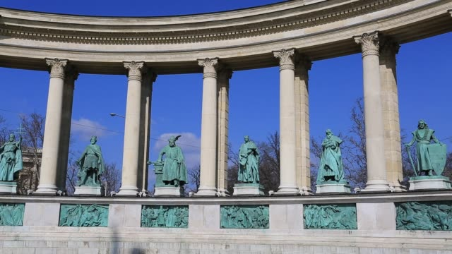 heroes square, budapest city, hungary. - traditionally hungarian stock videos & royalty-free footage