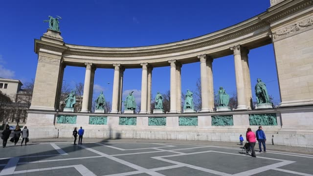 Heroes Square, Budapest City, Hungary.