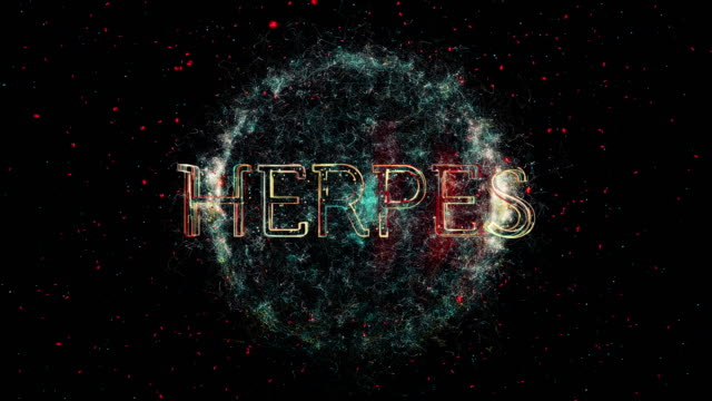 herpes title animation - herpes video stock e b–roll