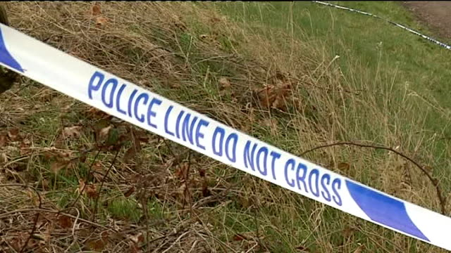 severed arm found; england: hertfordshire: wheathampstead: drovers lane: ext cordonned off section of country lane where section of human severed arm... - human arm stock videos & royalty-free footage