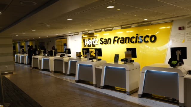 hertz global holdings said it entered into forbearances and limited waivers with certain of the company's corporate lenders and holders of the... - san francisco international airport stock videos & royalty-free footage