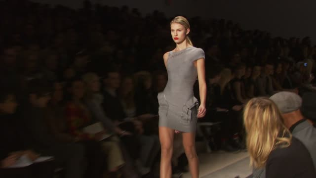 herve leger by max azria fall 2010 mbfw new york ny - bcbg max azria stock videos & royalty-free footage