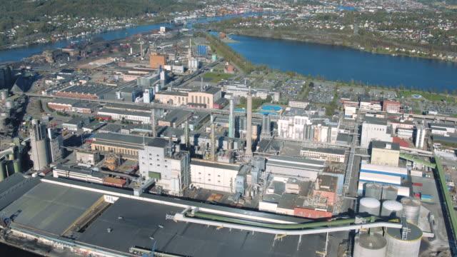 herøya industrial park - industrial district stock videos & royalty-free footage