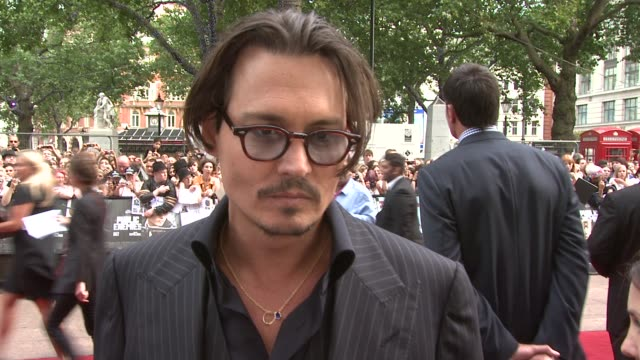 he's also asked about the moment he met his partner vanessa paradis and if it compares to the love at first sight moment in the film when dillinger... - john dillinger stock-videos und b-roll-filmmaterial