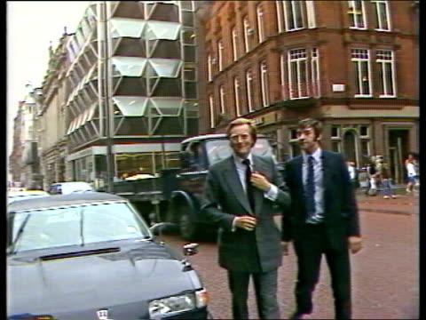 Day 1 ENGLAND Liverpool NAO Story CU Ext quotAtlanticquot ZOOM Security man on radio at door MS Door SOF quotGlad to be back two weeksquot Town Hall...