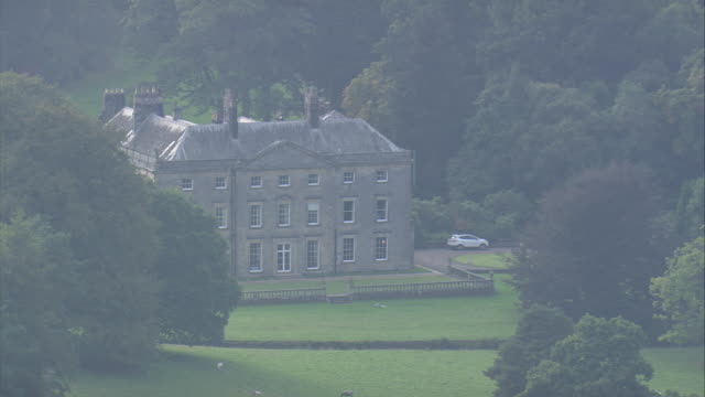hesleyside hall - stately home stock videos and b-roll footage