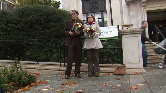 a heterosexual couple has challenged the law which allows only people of the same sex to enter into civil partnerships tom freeman katherine doyle... - heterosexual couple stock videos & royalty-free footage