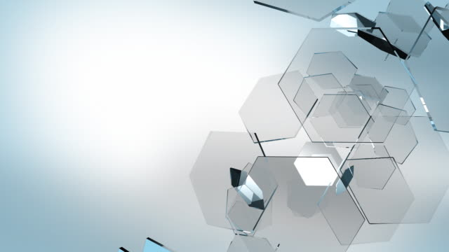 hex background hd - hexagon stock videos and b-roll footage