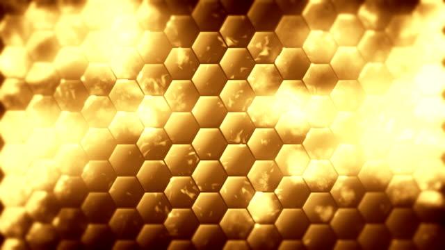Hex golden background loop