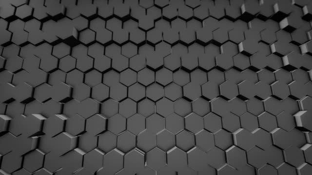 hexagon abstract backgrounds loopable 4k - metal stock videos & royalty-free footage