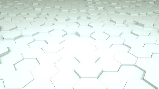 vídeos y material grabado en eventos de stock de fondo de rejilla hexagonal, fondo tecnología - baldosa
