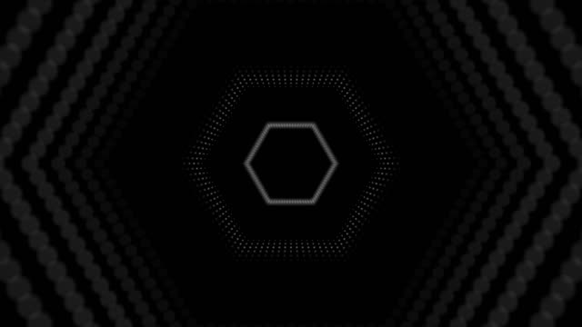 hexagon led tunnel - neon stock videos & royalty-free footage