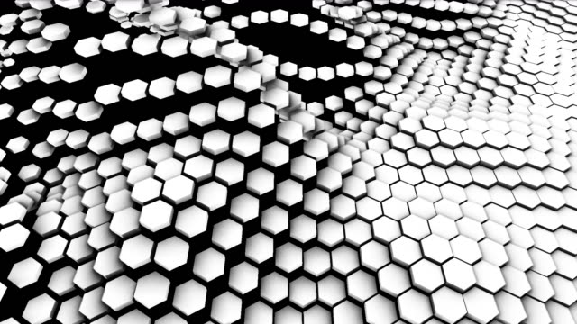 4k sechseck-übergangsmasken. abstrakte bewegungsgrafiken und animierter hintergrund. hightech-3d-animation - sechseck stock-videos und b-roll-filmmaterial