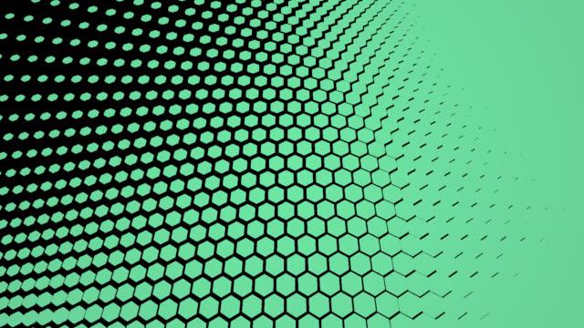 vídeos de stock, filmes e b-roll de máscaras de transição hexágono 4k. gráficos de movimento abstrato e fundo animado. animação 3d de alta tecnologia - hexágono