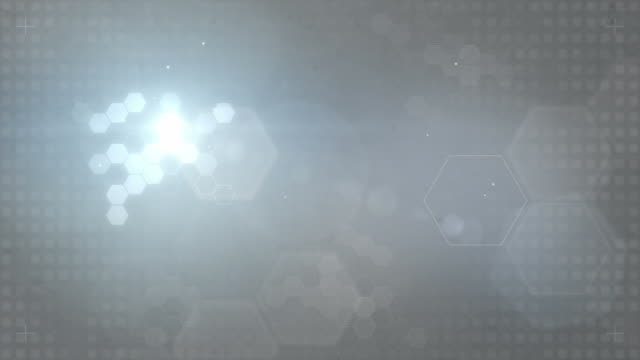 Hexagonal Designed Background Loop - Blue/Grey (FULL HD)