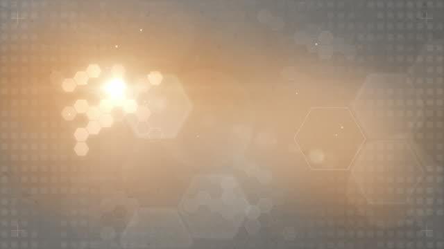 hexagonal designed background loop - orange/grey (full hd) - hexagon stock videos & royalty-free footage