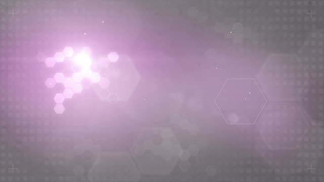hexagonal designed background loop - pink/grey (full hd) - pink background stock videos and b-roll footage