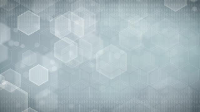 hexagonal gray background (loopable) - geometric stock videos and b-roll footage