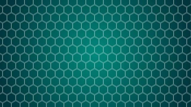 vídeos y material grabado en eventos de stock de hexagonal, fondo de nido de abeja - fondo turquesa