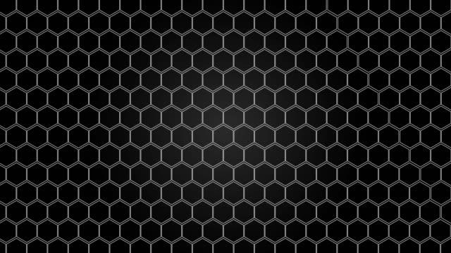 vídeos y material grabado en eventos de stock de hexagonal, fondo de nido de abeja - cuadrícula