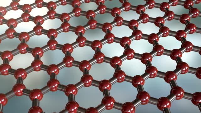 hexagonal molecule background - atom stock videos & royalty-free footage