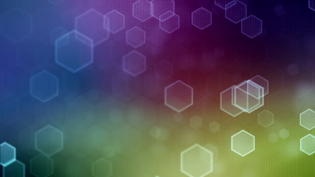 Hexagonal Multi Colored Background (Loopable)