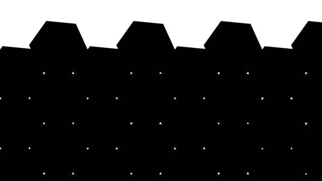 hexagonal transitions - luma matte stock videos & royalty-free footage