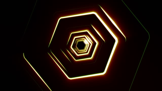 hexagonal tunnel - zoom in stock videos & royalty-free footage