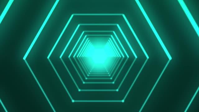六角形トンネル - 内部点の映像素材/bロール