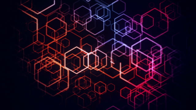 hexagons animation loop - hexagon stock videos and b-roll footage