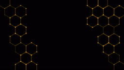 4K Hexagons Technological Background