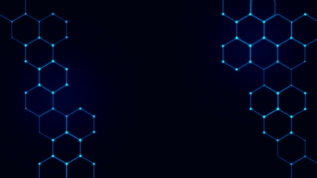 4k hexagons technological background - hexagon stock videos & royalty-free footage