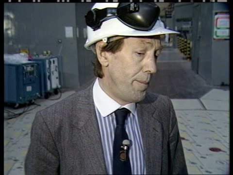 "heysham nuclear plant:; england: lancashire: heysham: cms alan matthews intvw sof: ""we have a basic -- matthews and mcginty on reactor floor both... - nuclear reactor stock videos & royalty-free footage"