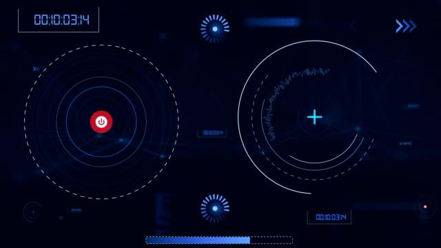 4k hi tech user interface head up display - surveillance camera stock videos & royalty-free footage