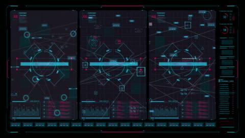 hi tech user interface head up display - interactivity stock videos & royalty-free footage
