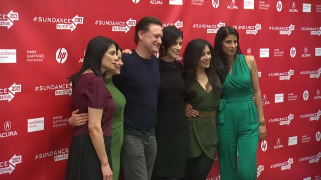 """hiam abbass, cherien dabis, ritu singh pande and bill pullman at """"may in the summer"""" premiere - 2013 sundance film festival hiam abbass, cherien... - bill pullman stock videos & royalty-free footage"""