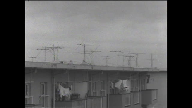 1961 hibarigaoka housing complex in tokyo - showa period stock videos & royalty-free footage