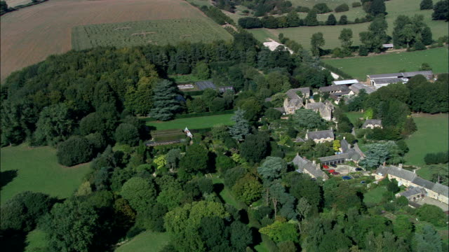 hidcote garden  - aerial view - england, gloucestershire, cotswold district, united kingdom - gloucestershire stock videos and b-roll footage